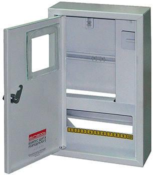 Корпус e.mbox.stand.n.f1.10.z металевий, під 1-ф. лічильник, 10 мод., навісний, , фото 2
