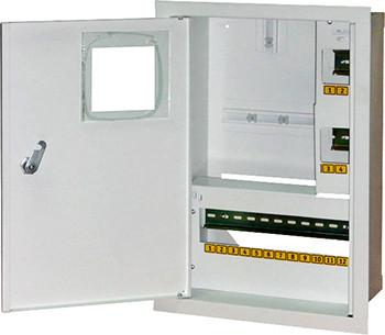 Корпус e.mbox.stand.w.f1.16.z.e металевий, під 1-ф електронний лічильник, 16 мод