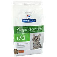 Hills Prescription Diet Weight Reduction r/d Chicken Лечебный корм для снижения веса у кошек / 5 кг