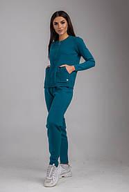 Уютный трикотажный спортивный женский костюм свободного кроя в 5 цветах в размерах S/M иM/L