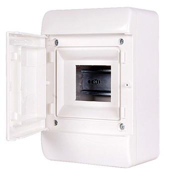 Корпус пластиковий, навісній (NT) 5-модульний, однорядний, IP 40, з непрозорими