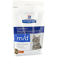Hills Prescription Diet Diabetes/Weight Management m/d Chicken Лечение сахарного диабета и ожирения у кошек / 5 кг