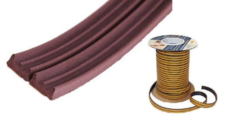 """Ущільнювач """"Sanok"""" коричневий E 150 м/бухта HTools, 35-031"""