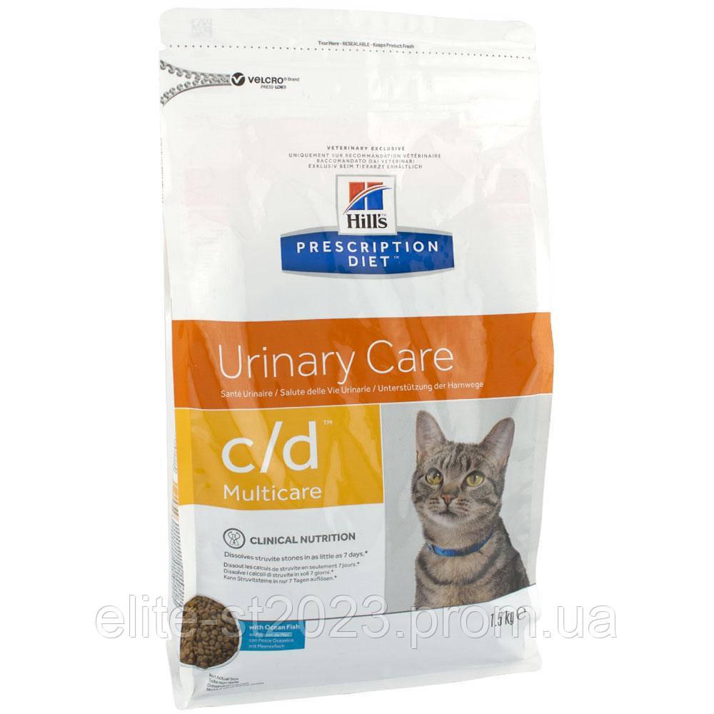 Hills Prescription Diet Urinary Care c/d Multicare Ocean Fish Лікувальний корм для нижніх сечовивідних шляхів у кішок / 5 кг