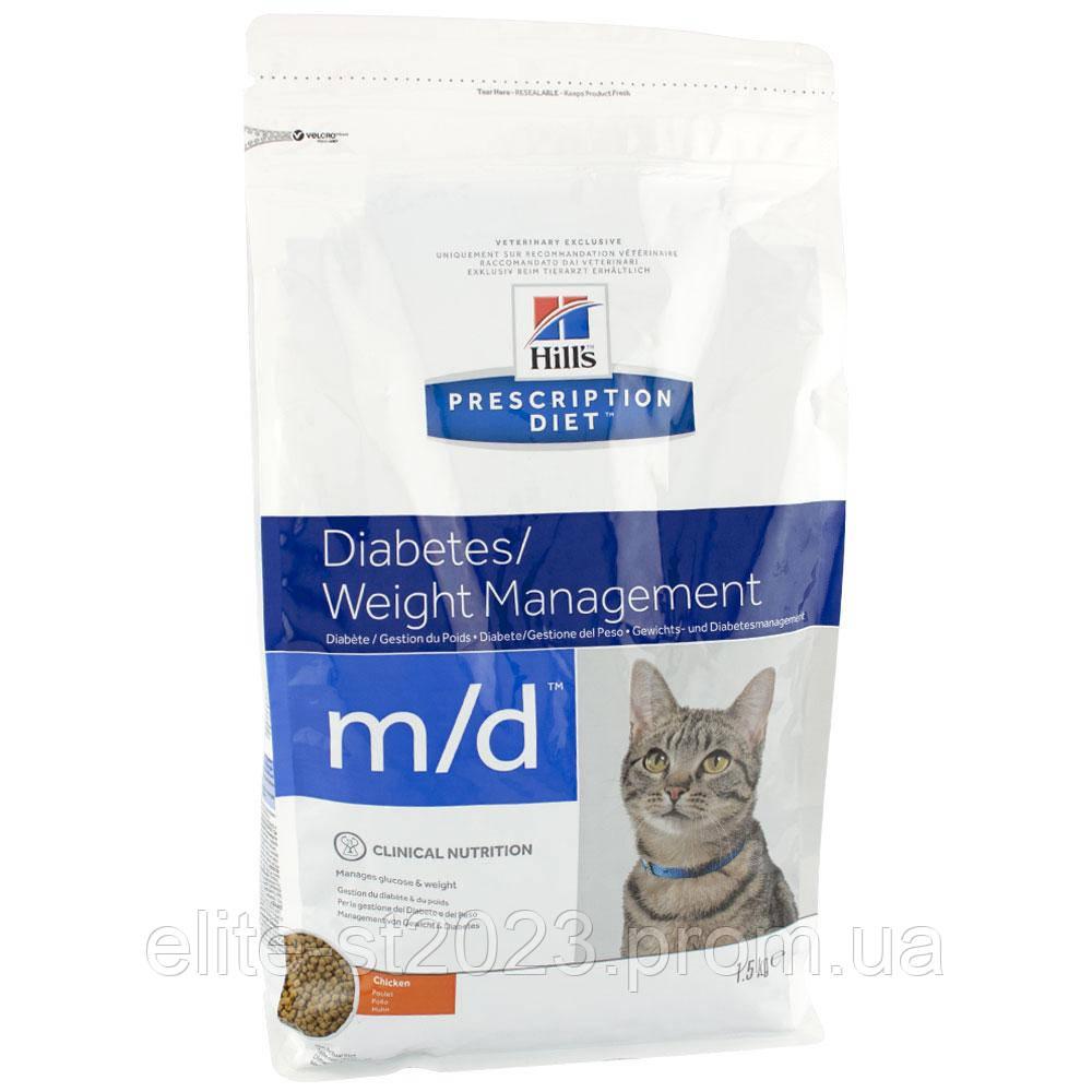 Hills Prescription Diet Diabetes/Weight Management m/d Chicken Лікування цукрового діабету та ожиріння 1.5 кг