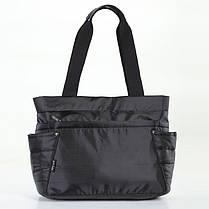 Женская сумка на плечо черная тканевая модная Dolly 471, фото 3