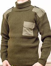 Форменный вязанный свитер ХАКИ (5 класс вязки)