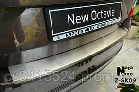 Накладка на бампер с загибом SKODA OCTAVIA III A7  2013-