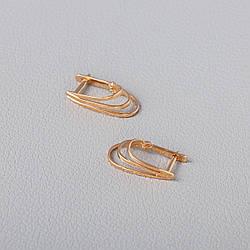 Золоті сережки на англійській застібці. СП20515А