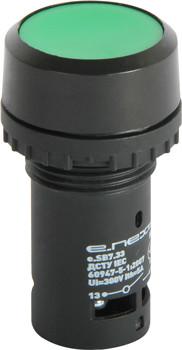 Кнопка e.SB7.33 зелена з фіксацією NO+NC