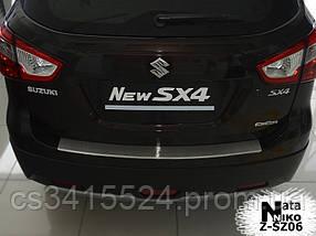Накладка на бампер с загибом SUZUKI SX4 II 5D 2014-2016