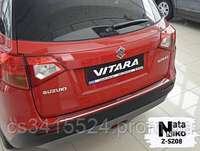 Накладка на бампер с загибом SUZUKI VITARA 2015-