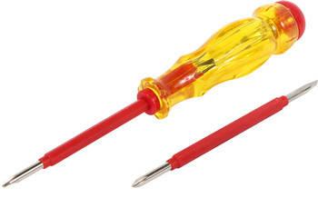 Індикатор-викрутка e.tool.test06  155х3хph0 прямий+хрестовий  АС100-500В, фото 2