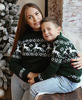 Женский вязаный рождественский свитер Джемпер/Гольф (Зеленый)