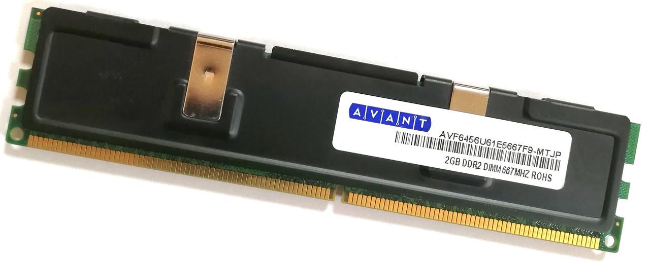 Игровая оперативная память Avant DDR2 2Gb 667MHz PC2 5300U CL5 2R8 Б/У