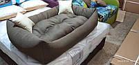 Теплый Диван лежанка Premium для больших собак всех  130 х 90 см. Лежанка, Лежаки, лежак, лежак для собак, фото 2