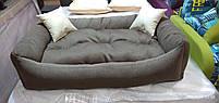 Теплый Диван лежанка Premium для больших собак всех  130 х 90 см. Лежанка, Лежаки, лежак, лежак для собак, фото 3