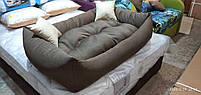 Теплый Диван лежанка Premium для больших собак всех  130 х 90 см. Лежанка, Лежаки, лежак, лежак для собак, фото 4