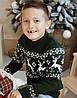 Детский вязаный рождественский  свитер  Гольф/Джемпер (Зеленый) 80-152 см