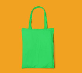 Пляжна сумка/Промо сумка (габардин) для друку колір САЛАТОВИЙ