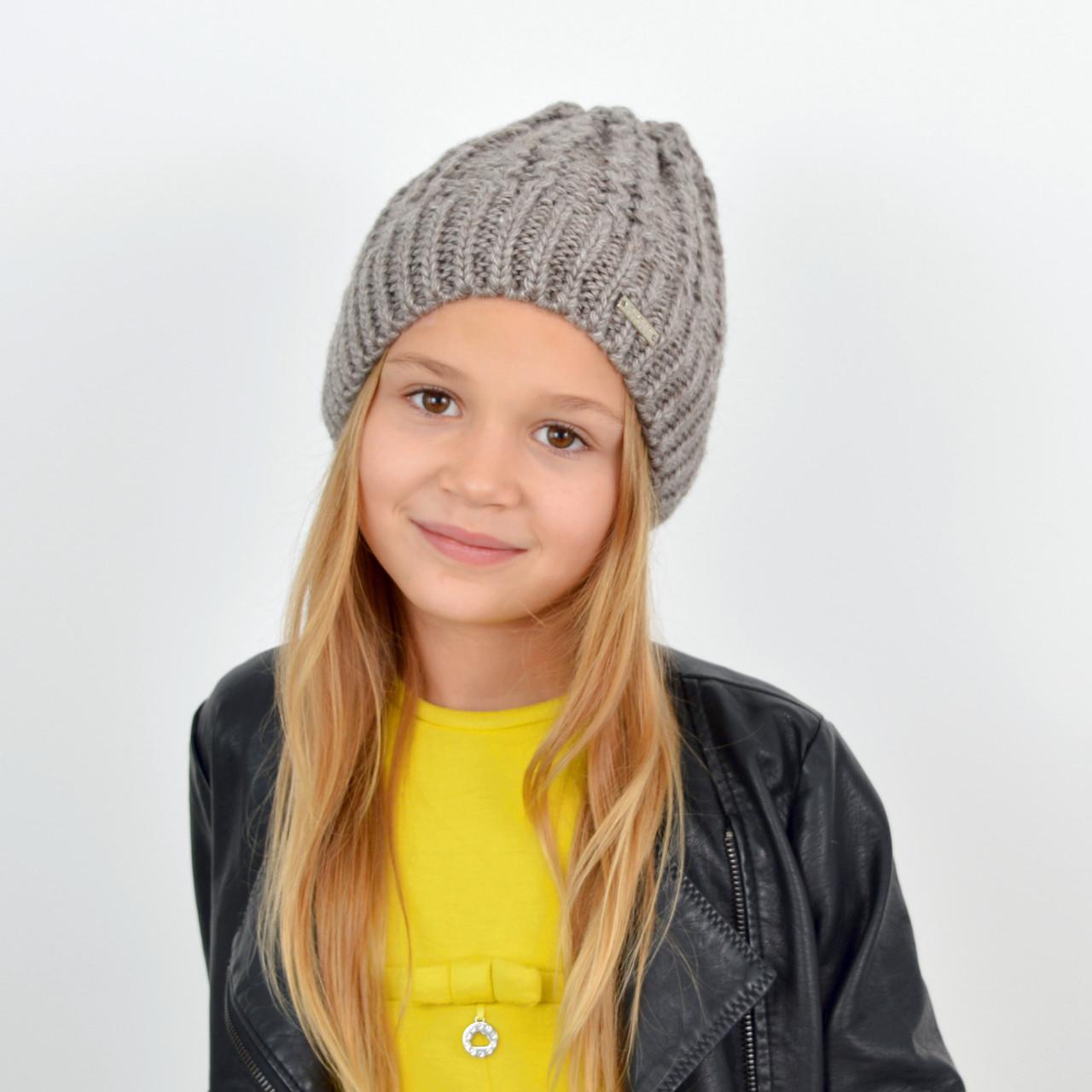 Детская вязаная шапка 3310 Капучино