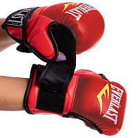 Перчатки для ММА Эверласт для единоборств профессиональные гибридные EVERLAST Красный (BO-4612-R) S, фото 1