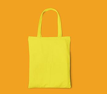 Пляжна сумка/Промо сумка (габардин) для друку колір ЖОВТИЙ