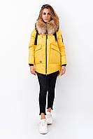 Женская зимняя куртка Olanmear. Желтый цвет