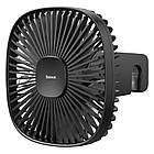 Вентилятор автомобільний Baseus Natural Wind Magnetic Rear Seat Fan, чорний, фото 2