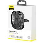 Вентилятор автомобільний Baseus Natural Wind Magnetic Rear Seat Fan, чорний, фото 5