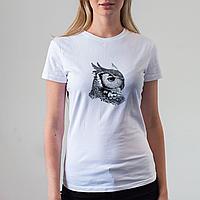 Женская белая футболка с совой