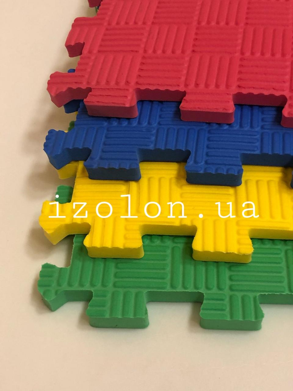 Комплект спортивного покриття EVA KIDS 500х500х10мм килимок-пазл (4шт в комплекті) 4 різних кольорів