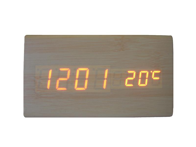Электронные цифровые настольные часы дерево VST 861 подсветка Red Light Wooden