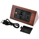 Электронные цифровые настольные часы дерево VST 861 подсветка Red Light Wooden, фото 3