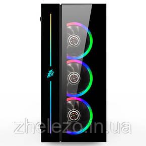 Корпус 1stPlayer B7-A-R1 Color LED Black без БП, фото 2