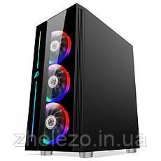 Корпус 1stPlayer B7-A-R1 Color LED Black без БП, фото 3
