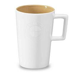 Оригинальная кружка BMW Colour Large Logo Mug, White / Sand, артикул 80232466203
