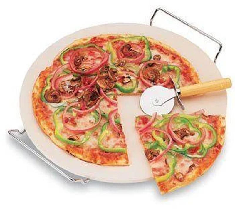 Камень для пиццы Browin с подставкой и ножом 33 см