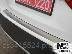 Накладка на бампер BMW X1( Е84) 2009-2012