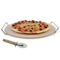 Камень для пиццы с подставкой и ножом 33 см, фото 1