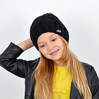 Детская вязаная шапка 3360 Черный, фото 1