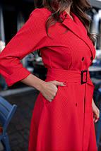 """Элегантное платье на пуговицах в горошек """"Клеменс"""" с поясом, фото 2"""