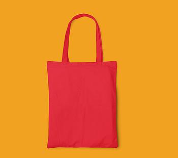 Пляжна сумка/Промо сумка (габардин) для друку колір ЧЕРВОНА
