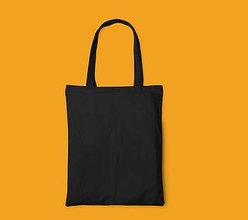 Пляжна сумка/Промо сумка (габардин) для сублімації колір ЧОРНА