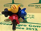 Форсунка на обприскувач потрійна прохідна з розпилювачем кас Biardzki Форсунка потрійна для обприскувача, фото 2