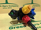 Форсунка на обприскувач потрійна прохідна з розпилювачем кас Biardzki Форсунка потрійна для обприскувача, фото 4
