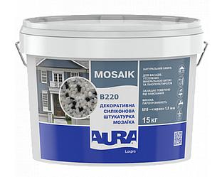 Штукатурка кварцевая AURA LUX PRO MOZAIK M15 мозаичная (зерно 1,5 мм) B220 15кг