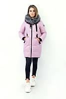 Женская зимняя куртка Olanmear. Розовый цвет