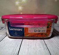 """Пищевой контейнер квадратный из толстого стекла Luminarc """"Pure Box"""" 14.5*14,5*5,5 см 760 мл (P4593), фото 1"""