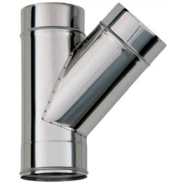 Трійник 45 ° ф 160 0.8 мм нержавіюча сталь